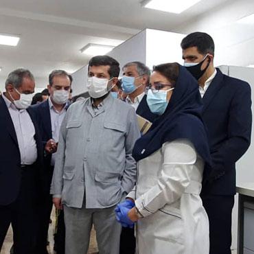 بازدید رئیس سازمان ملی استاندارد از آزمایشگاه مرجعان خاتم